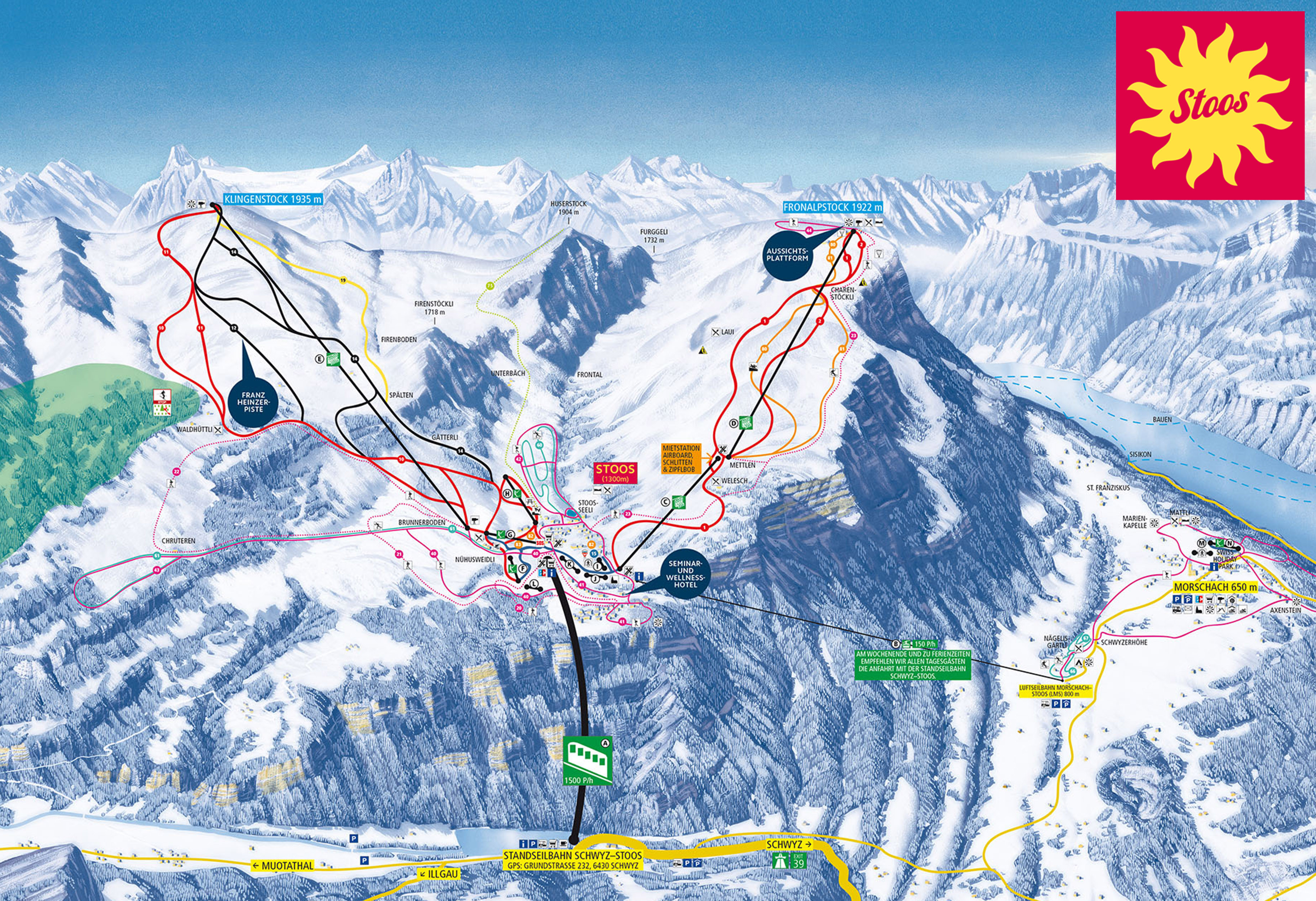 Stoos Piste / Trail Map