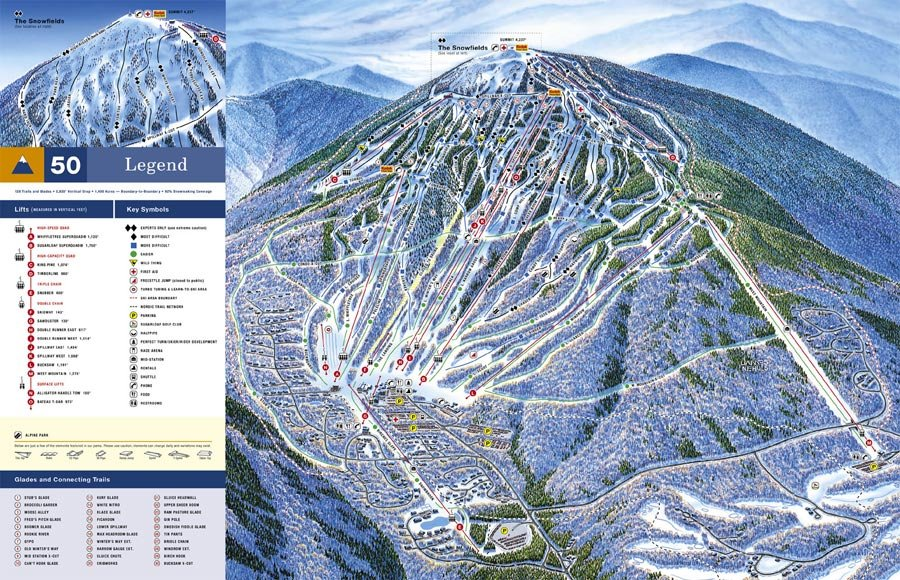 Sugarloaf Piste Map  Trail Map