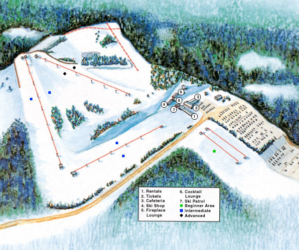 Swiss Valley Piste / Trail Map