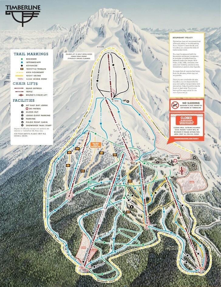 Of Major Ski Areas In Western Us - Western us ski resorts map