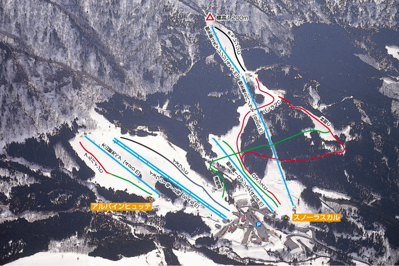 Wakasa Hyonosen Piste / Trail Map