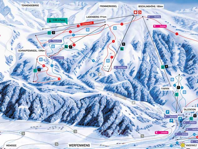 Werfenweng Piste / Trail Map