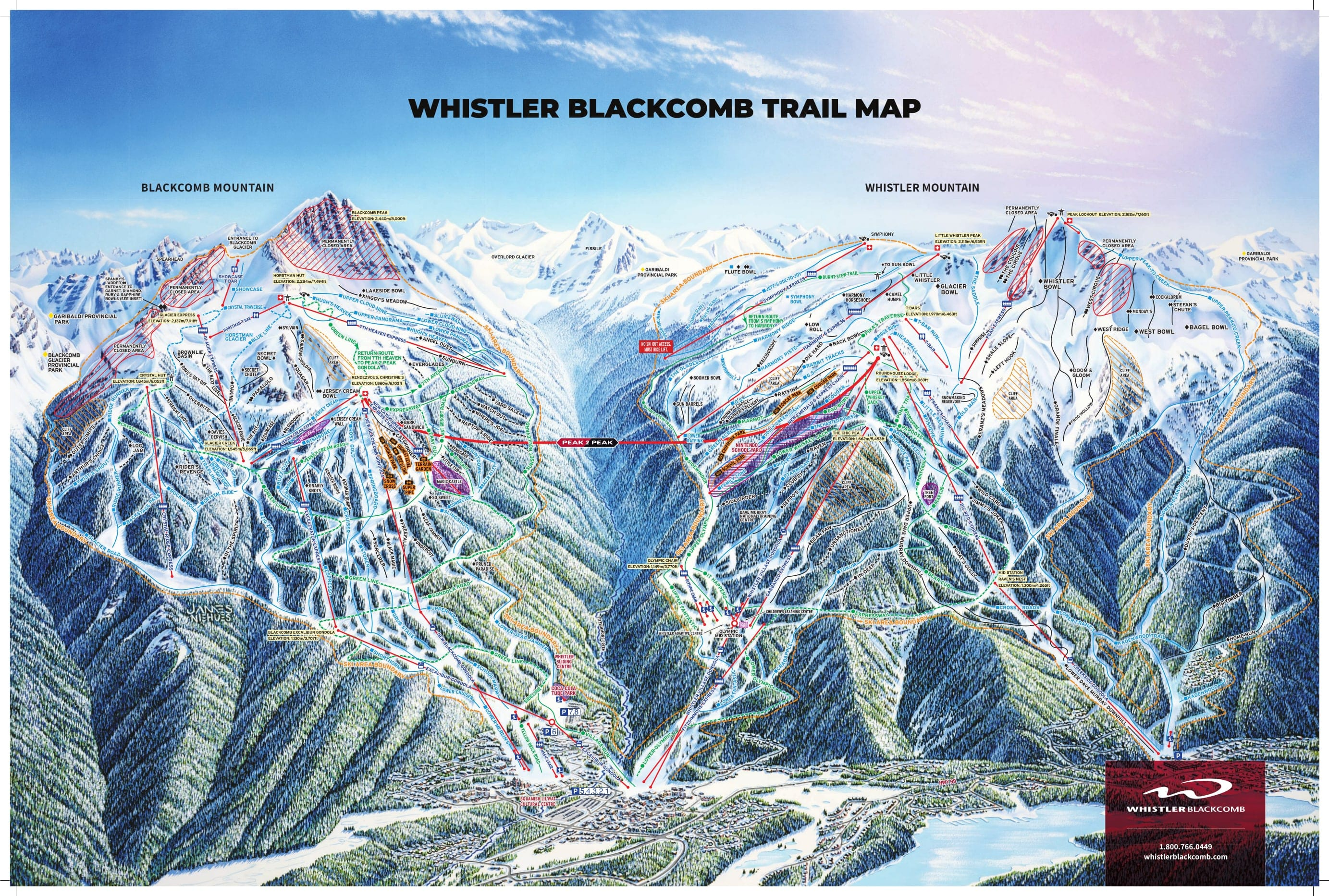 Whistler Piste Map Trail Map