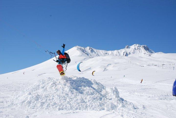 erciyes snowkite-umut, Mt Erciyes