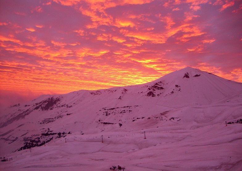 Sunset, Valle Nevado, Chile