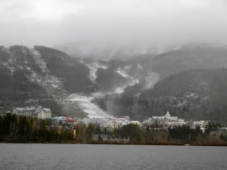 Early Season Snowmaking at Tremblant, Mont Tremblant
