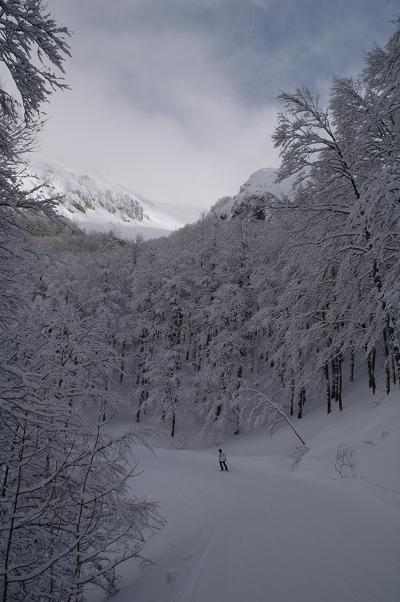 The now closed North Face run of Cardito Sud, Terminillo