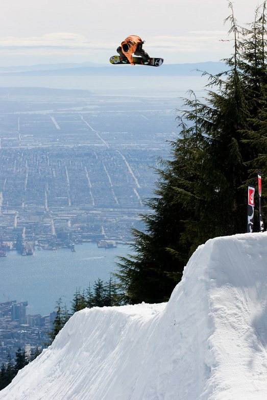 Big air with a huge view, Grouse Mountain