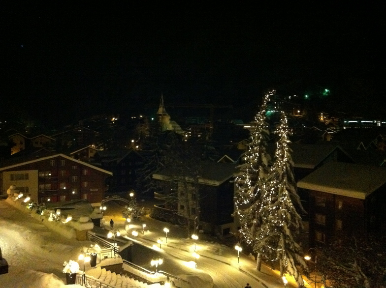 View over Zermatt by night