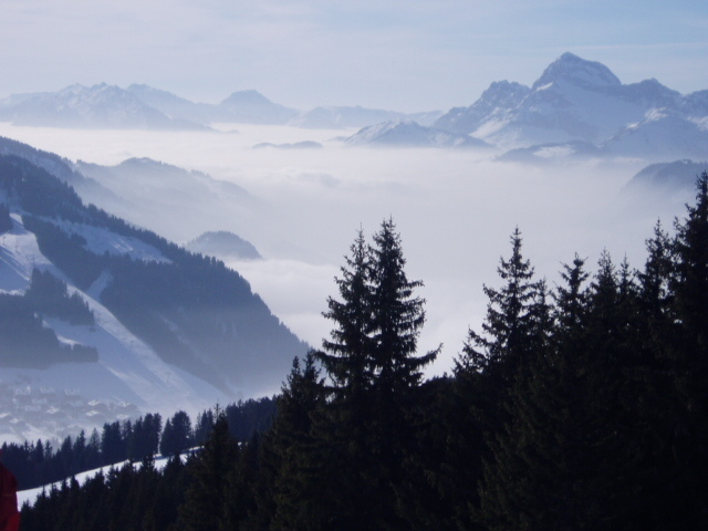 A Day of contrast, Megeve