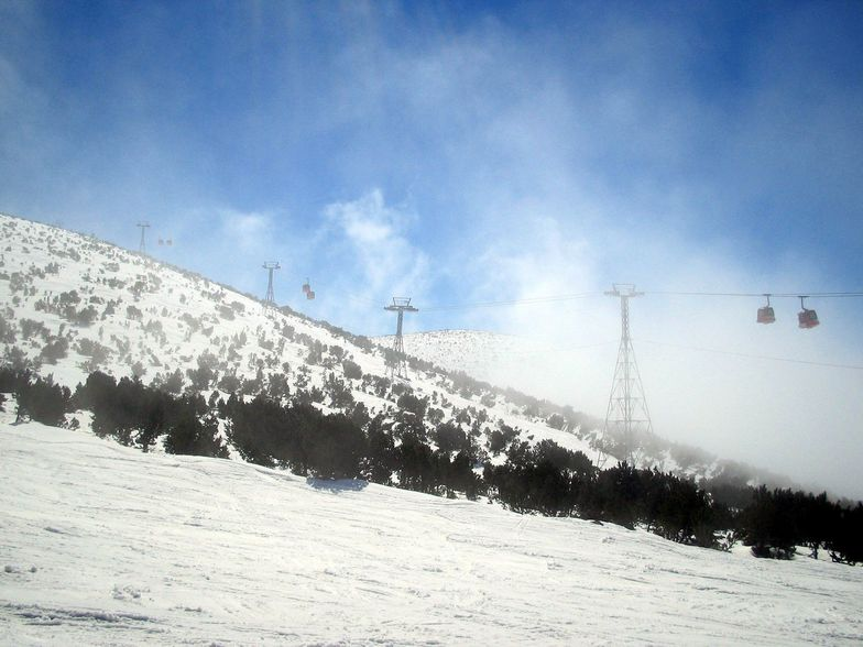midway down above Borovets