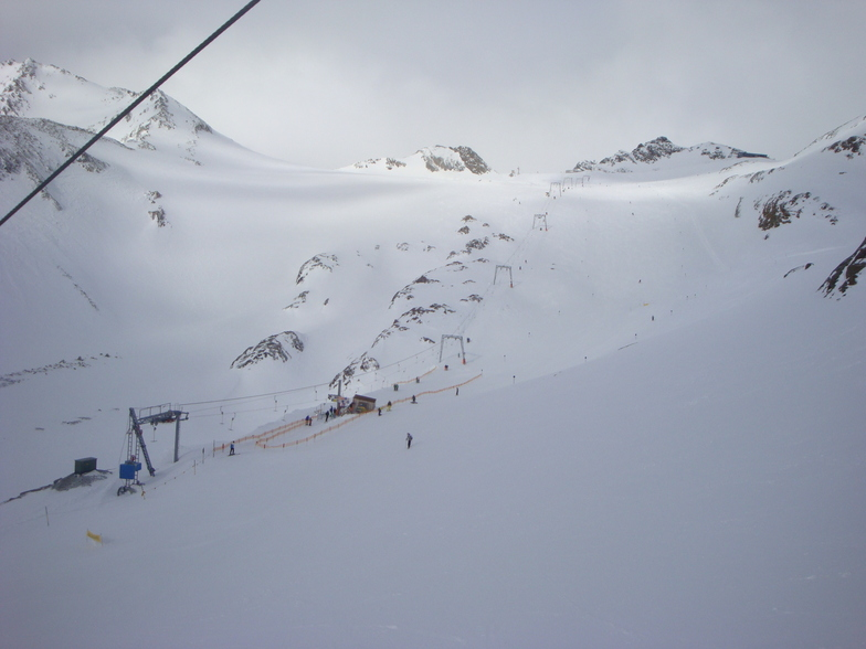 Cloudy morning, Stubai Glacier