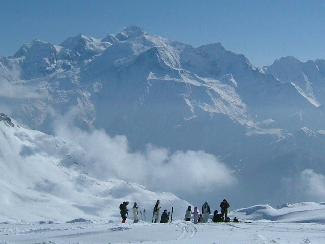 Flaine looking towards Mont Blanc
