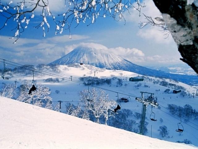 Mt Yotei from Niseko, Hokkaido, Japan, Niseko Annupuri