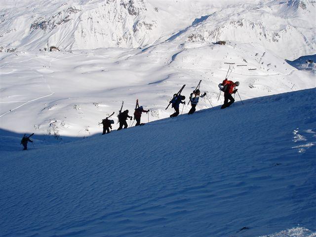 Climbing the Maroikopf in St. Anton early January 2006