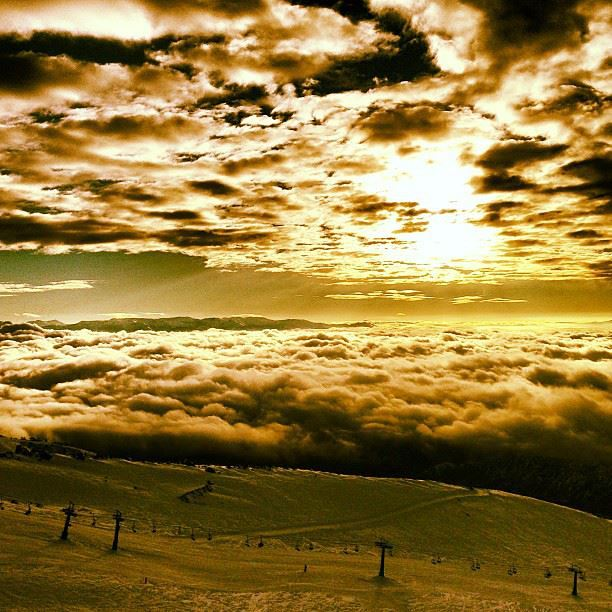 Excelent view at the top with FreshTracks, Cerro Catedral