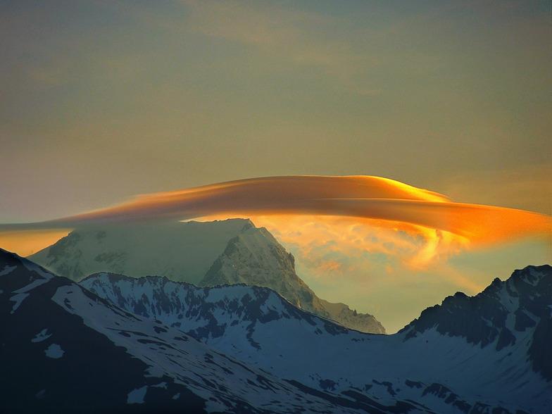 Mont Blanc Sunrise, Montchavin/Les Coches