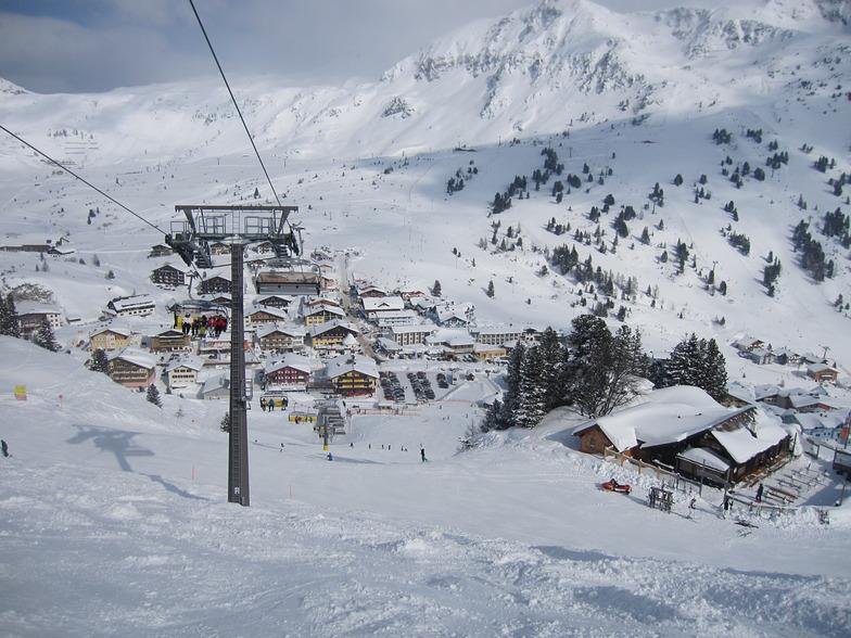 Obertauern seen from above