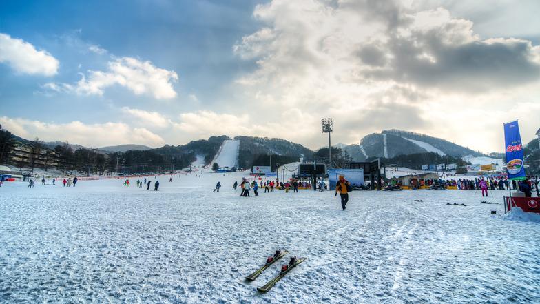 Lyžařské středisko Jongpchjong bude hostit alpské disciplíny