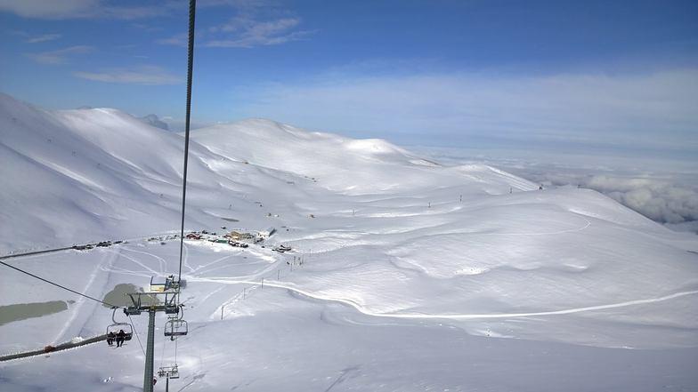 Falakro after a big night snowfall, Falakro Ski Resort