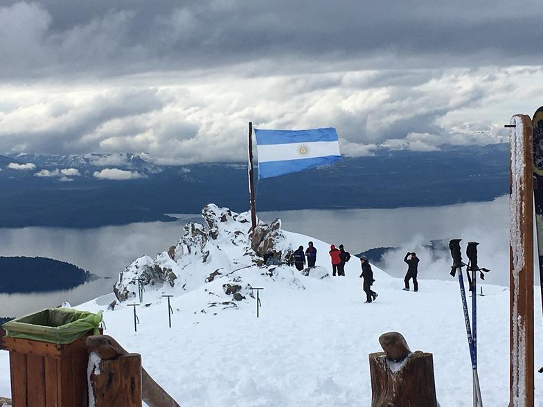 Top of the Mountain. Refugio Lynch, Cerro Catedral