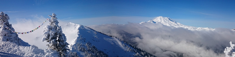 At the top of Crystal Mountain