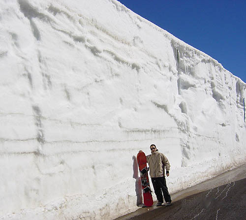 Snow wall in Faraya, Mzaar Kfardebian