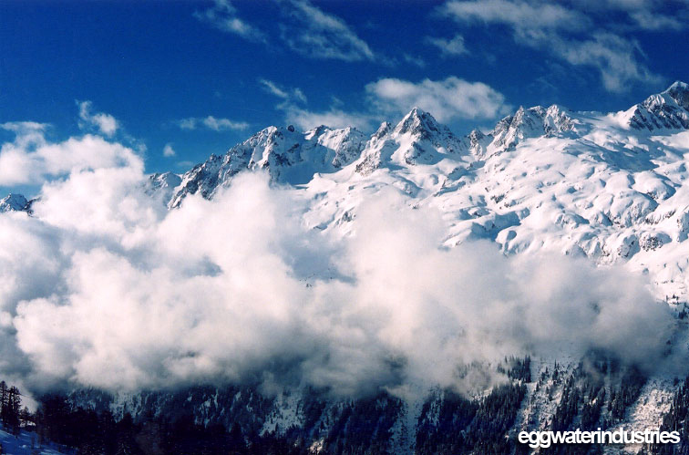 View across the Chamonix Valley from Argentiere