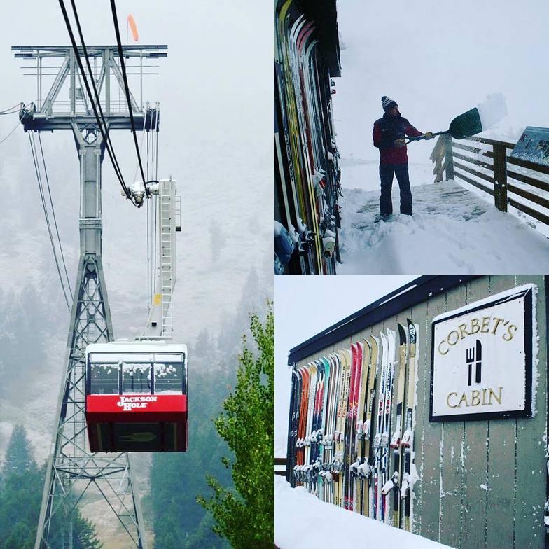 Jackson Hole - pre season snow