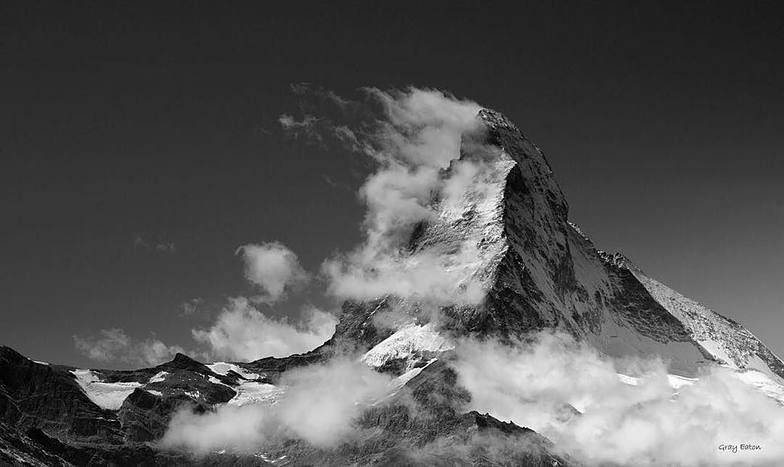Hornli Ridge on the Matterhorn, Zermatt