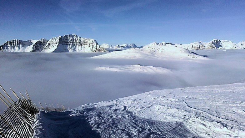Skiing above the clouds at Sunshine, Sunshine Village