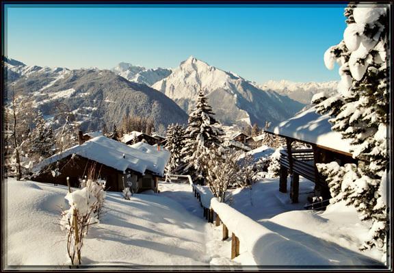 """""""A Snowy Verbier Village"""""""