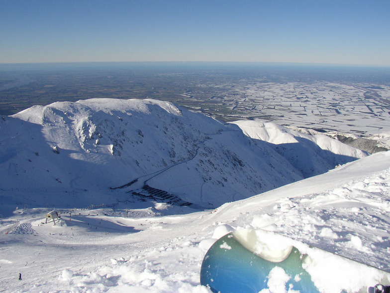 View from the top, Mount Hutt