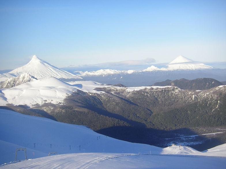 los volcanes desde el don pedro, Nevados de Chillan
