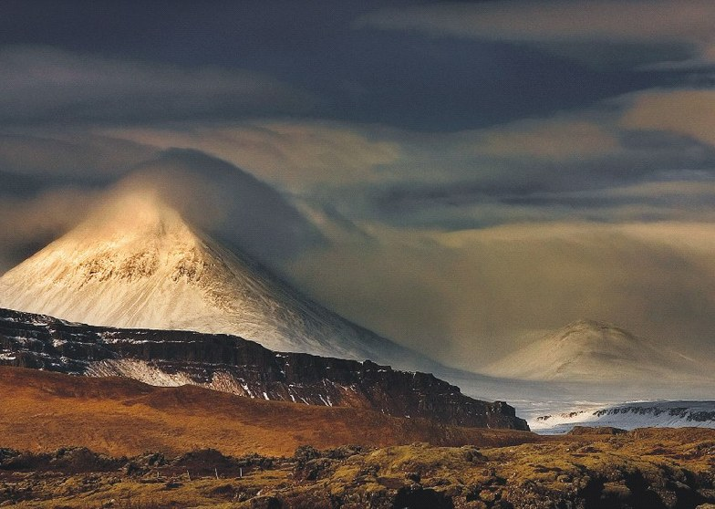 Mt. Baula in Borgarfjörður, Iceland, Bláfjöll