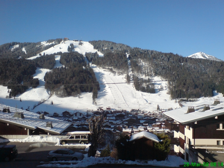 View of Pleny and Morzine town