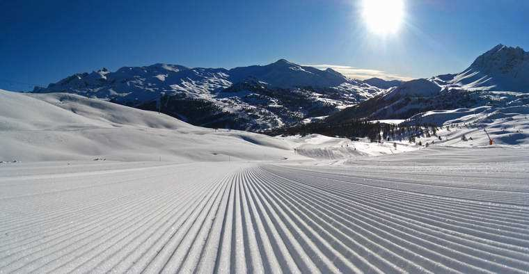 Brand new slope in the morning, Risoul