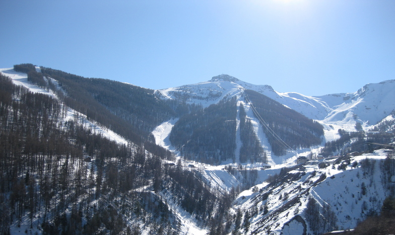 The view from our hotel balcony, Auron