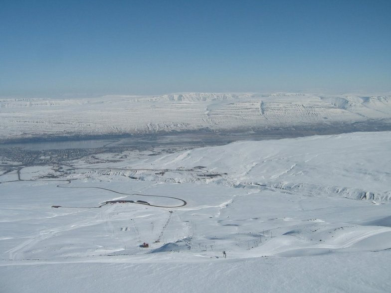 On the top of Akureyri ski area