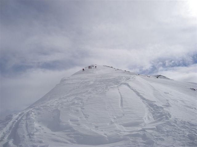 Climbing to Pischahorn, Davos