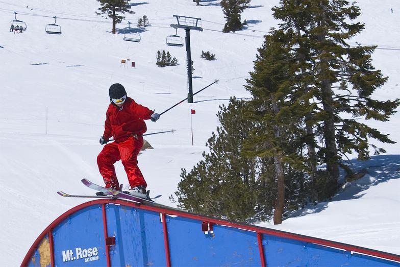 Rail in Lower Badlands, Mt Rose Ski at Tahoe