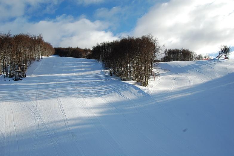 Esquiando entre bosques, Cerro Mirador