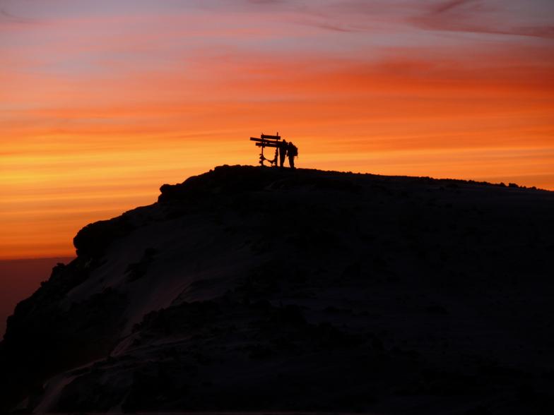 Sunrise on the summit, Mount Kilimanjaro