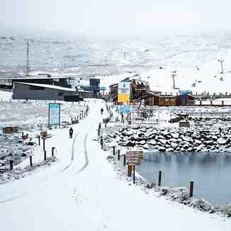 Snow falling at Afri-Ski, Afriski Mountain Resort