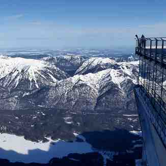Cable car on top of Zugspitze, Garmisch-Partenkirchen-Zugspitze