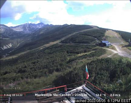 Live webcam per Borovets se disponibile