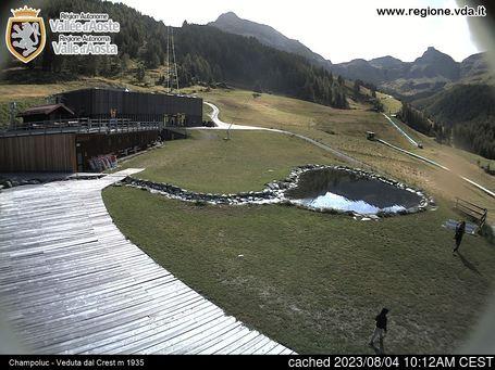 Champolucの雪を表すウェブカメラのライブ映像