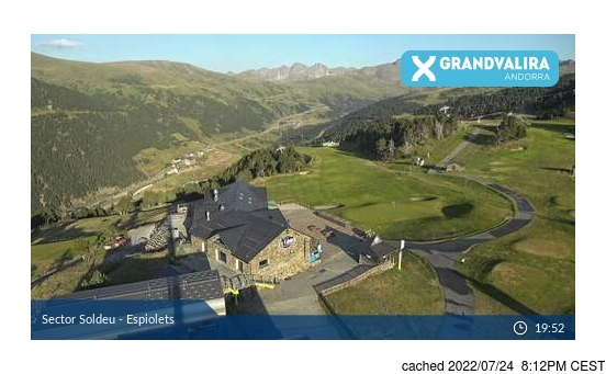 Live webcam per Grandvalira-Soldeu se disponibile
