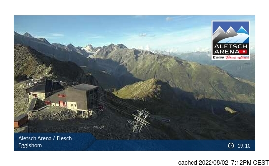 Live Snow webcam for Fiesch - Eggishorn - Aletsch Arena