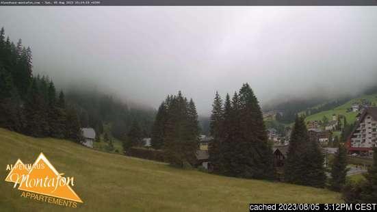 Gargellenの雪を表すウェブカメラのライブ映像